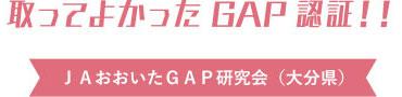 取ってよかったGAP認証‼️JAおおいたGAP研究会(大分県)